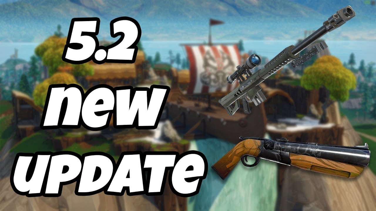 New fortnite 5. 2 patch notes (update + new double shotgun) youtube.