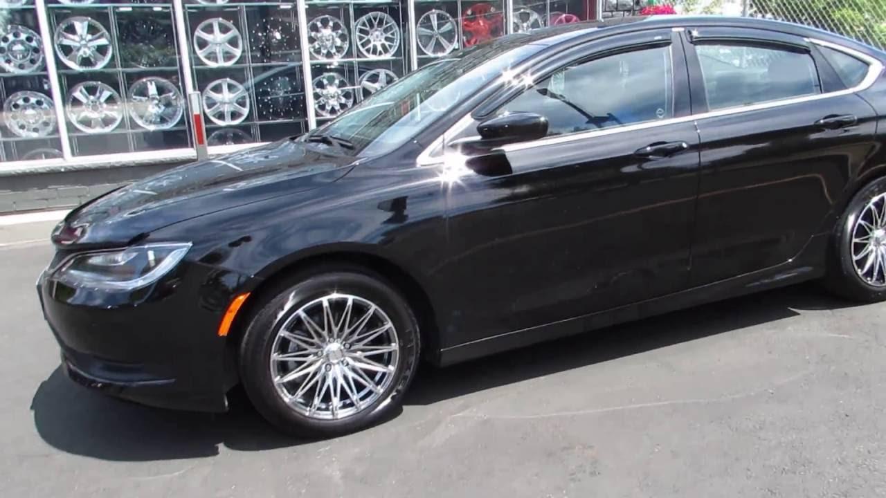 2015 Chrysler 200 Riding On 17 Inch Custom Rims Tires Youtube
