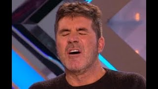 UNBELIEVABLE! She Is Changing Clothes In Front of Everyone! (Simon Falling a Sleep) | X Factor UK