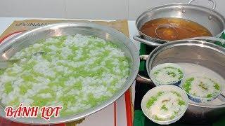 Làm bánh lọt lá dứa nước cốt dừa béo ngậy cực ngon
