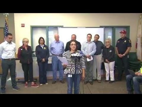 Breaking News:  California wildfires. Update. Napa County officials. Press Conference. October 10,