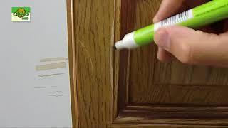 Mořící opravný fix na lakované dřevo a lamino v dřevodekoru