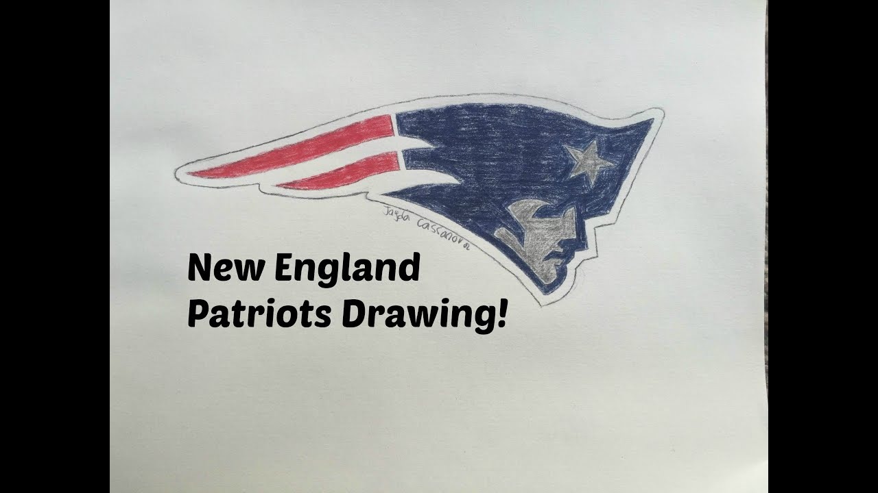 New England Patriots Logo Drawing Time Lapse Youtube