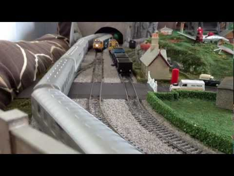 My new OO gauge model train layout Hornby Bachmann Lima