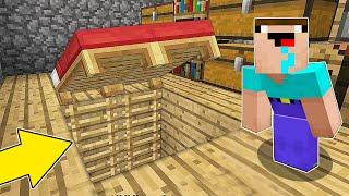Minecraft Battle - NOOB vs PRO : HOW NOOB FOUND THIS SECRET BASE UNDER BED ? (Animation)
