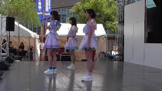 チバテレ夏祭り 2018年 1日目 AKB48 Team8 ステージイベント 吉川七瀬さん 左伴彩佳さん 清水麻璃亜さん のステージです。