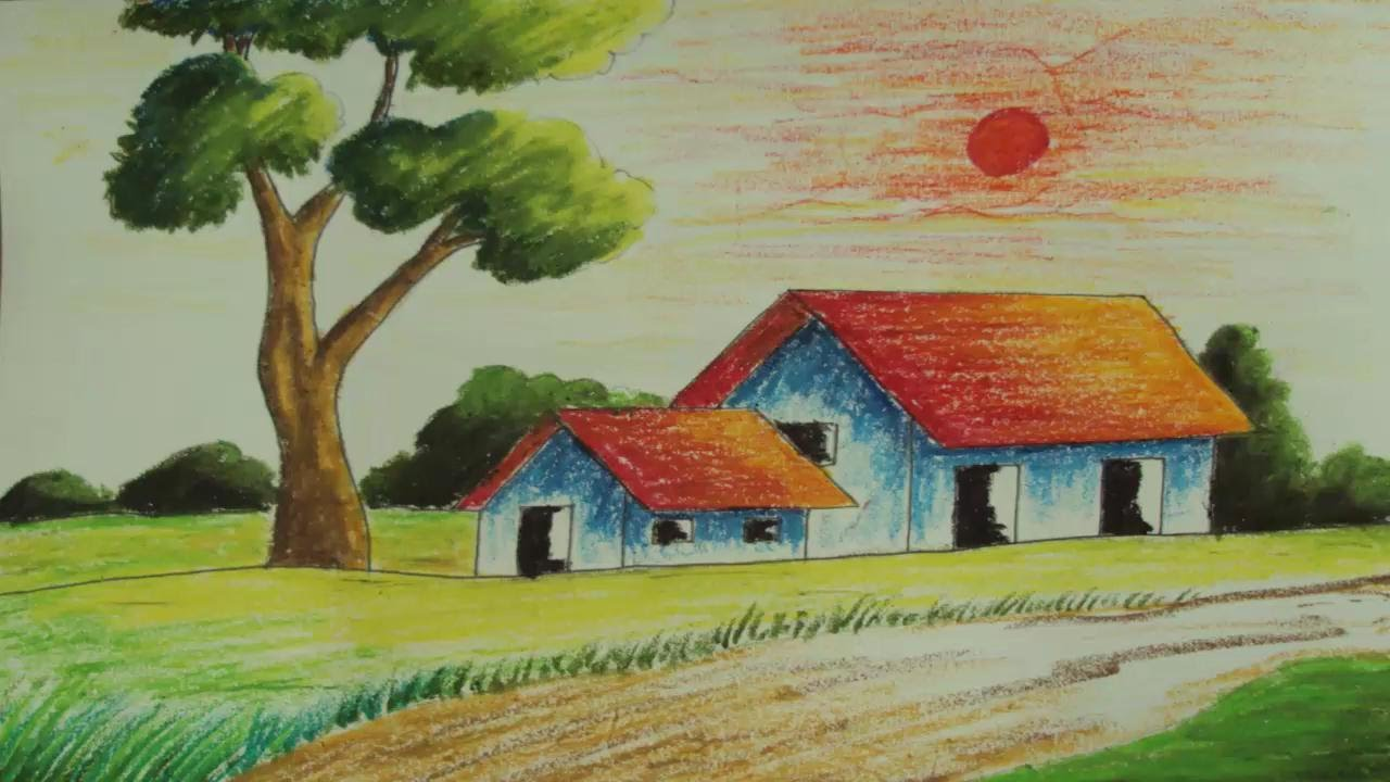 pastel painting how to draw a simple landscape episode