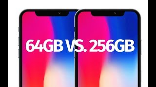 What is the difference between: iPhone X 64gb vs 256gb