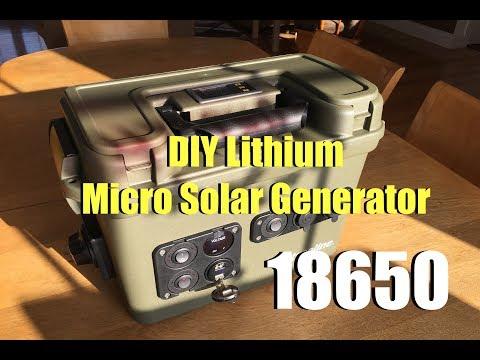 18650 DIY Lithium Micro Solar Generator - Finished