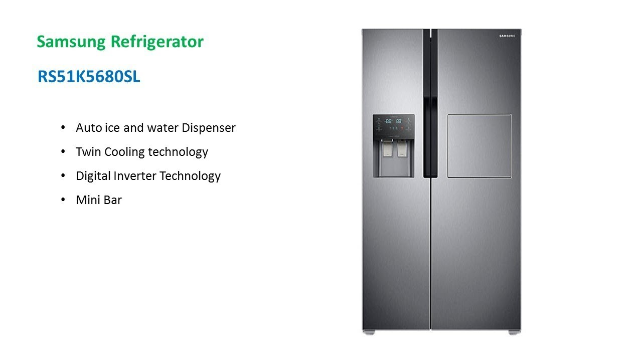 Samsung Side By Side Refrigerator Rs51k5680sl Youtube