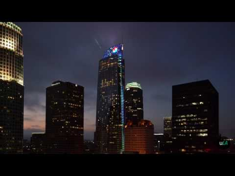 Wilshire Grand Opening Ceremony Light Show