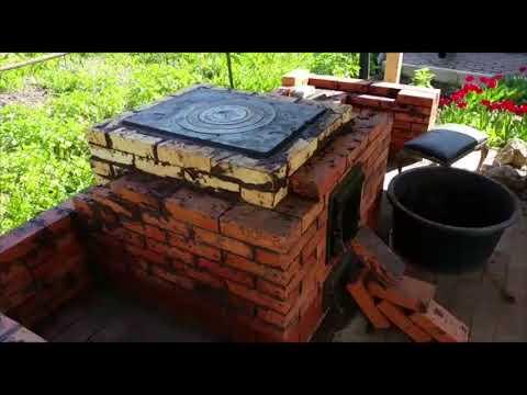 Садовая печь своими руками (комплекс барбекю)