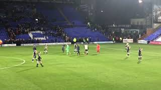Tranmere Rovers v Macclesfield, Full Time At Prenton Park, Fri 12 Oct 2018