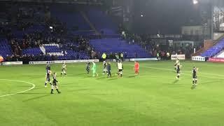 Tranmere Rovers v Macclesfield, Full Time At Prenton Park, Fri 12 Oct 2018
