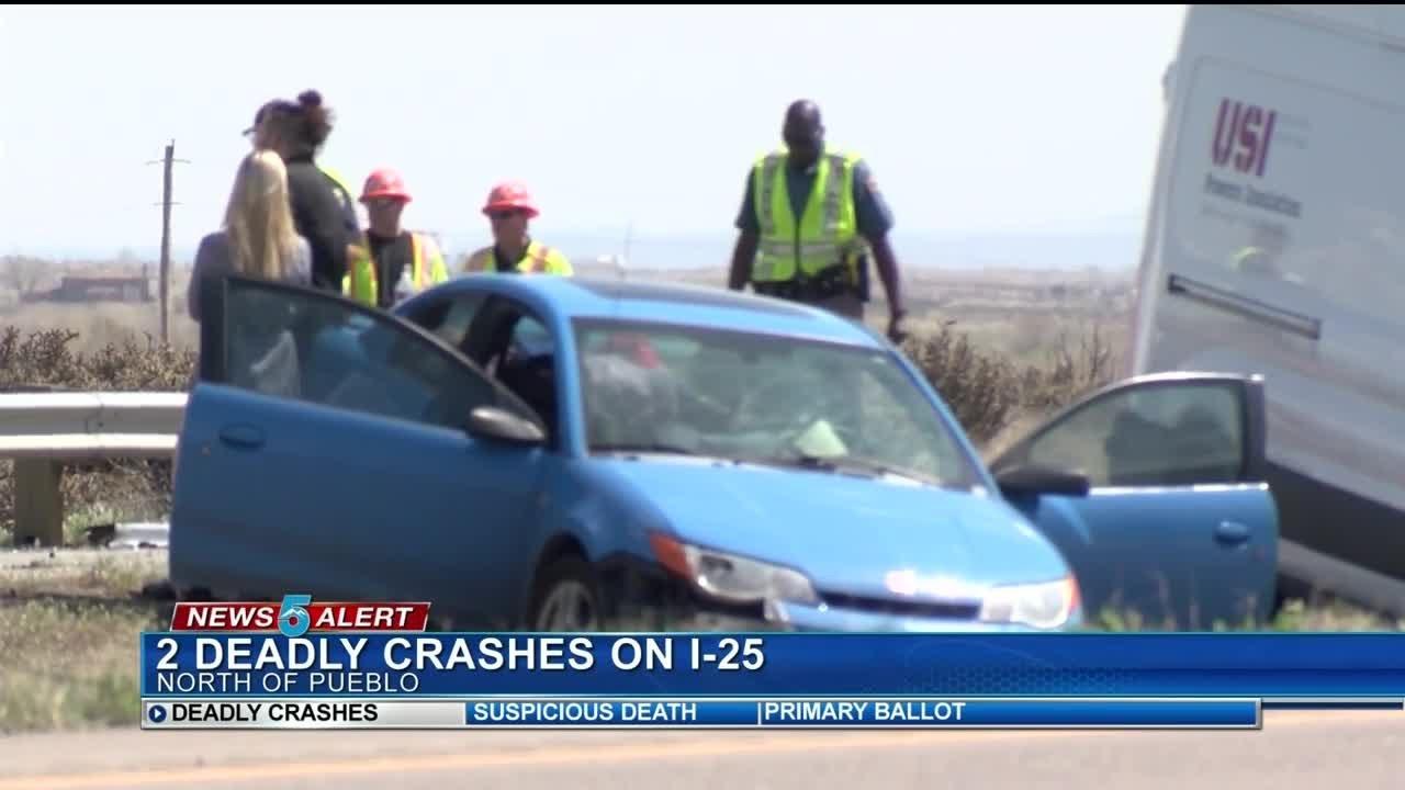 Fatal crash involving semi and multiple cars closes NB I-25 near Pueblo