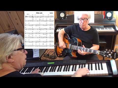 Moon Love - Jazz guitar & piano cover ( David, Davis, Kostelanetz )