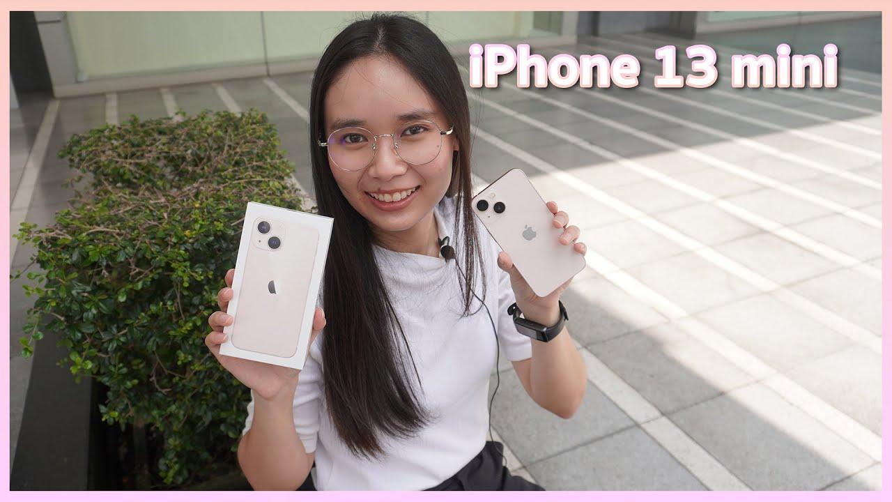 Unbox iPhone mini 13 pink   แกะกล่องไอโฟนมินิ 13 สีชมพู