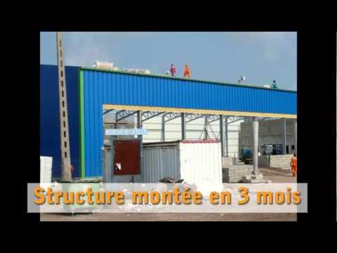 Supermarché de 3.200m² au Gabon: présentation du projet | Frisomat Hangars