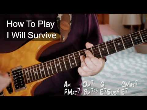 I Will Survive - Gloria Gaynor Guitar Turtorial