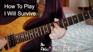 I Will Survive Gloria Gaynor Guitar Turtorial Youtube