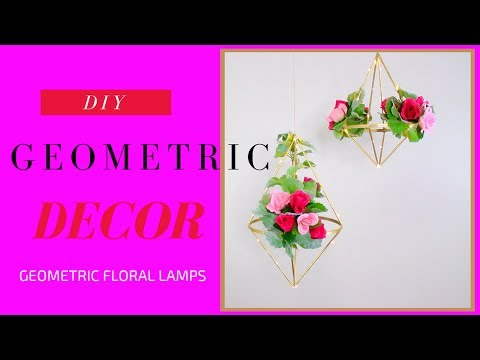 DIY Geometric Lamps   DIY Wedding Decoration Ideas
