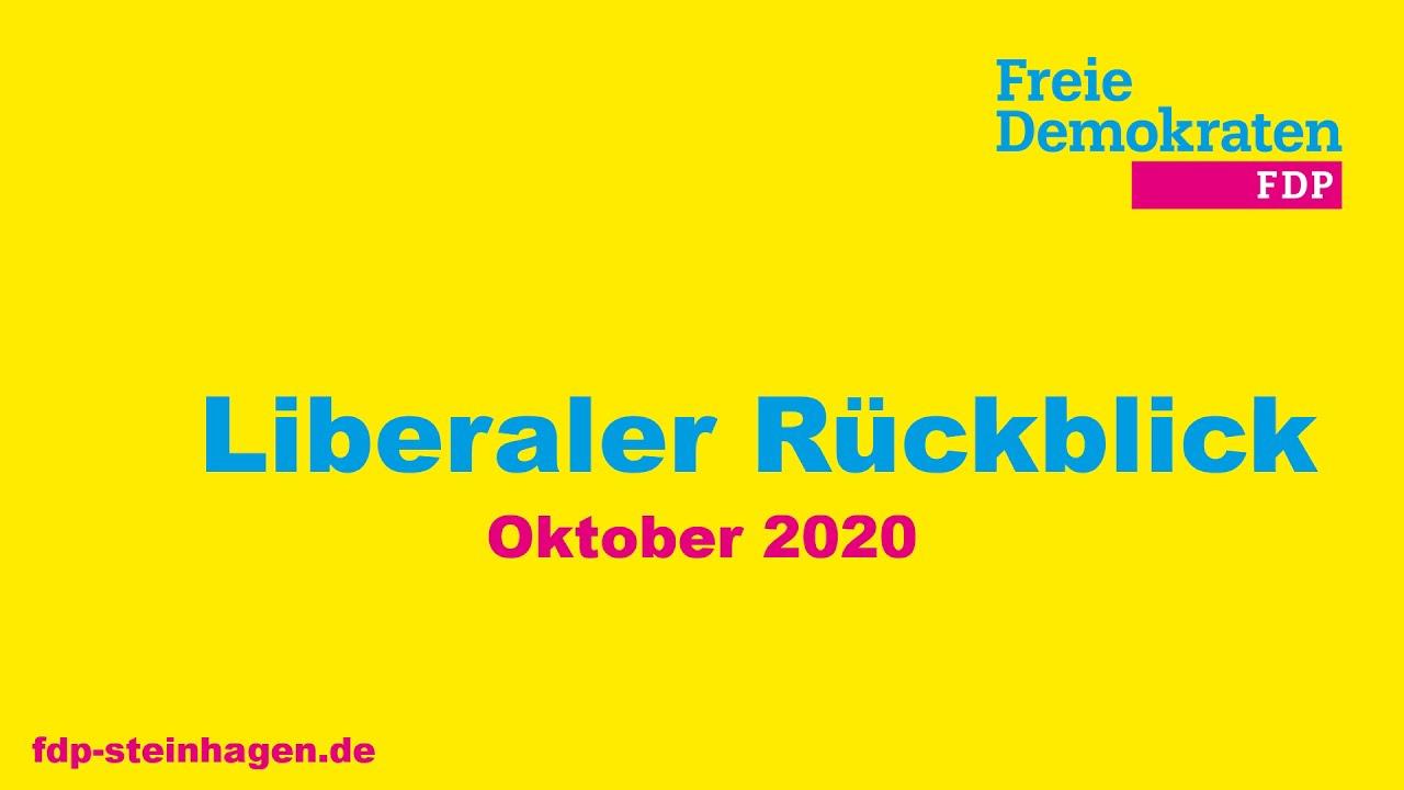 Liberaler Rückblick Oktober 2020