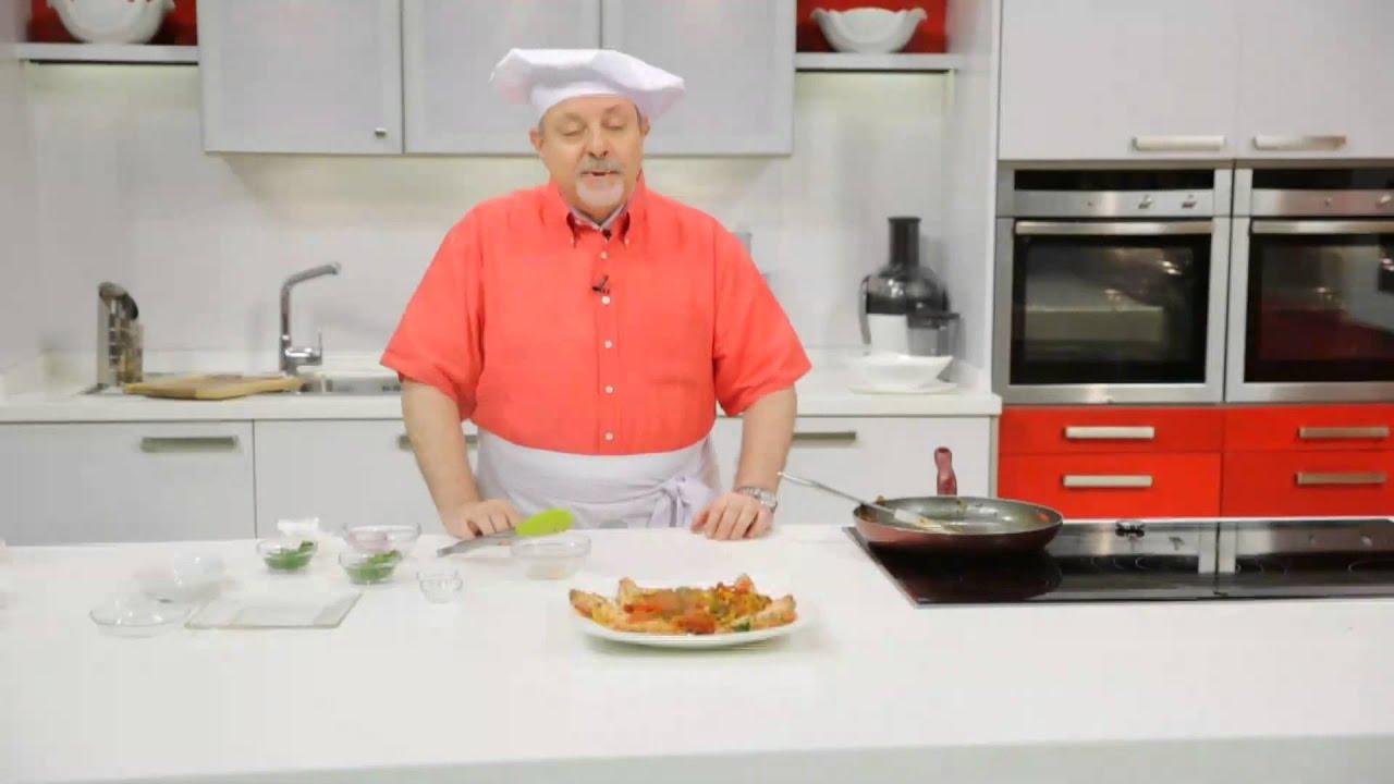 جمبرى جامبو مع الفلفل الألوان - جمبرى بصوص الكارى : طبخة ونص حلقة كاملة