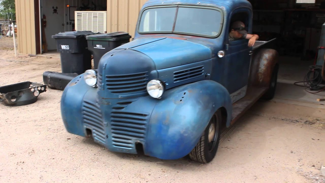 47 Dodge truck out the door - YouTube