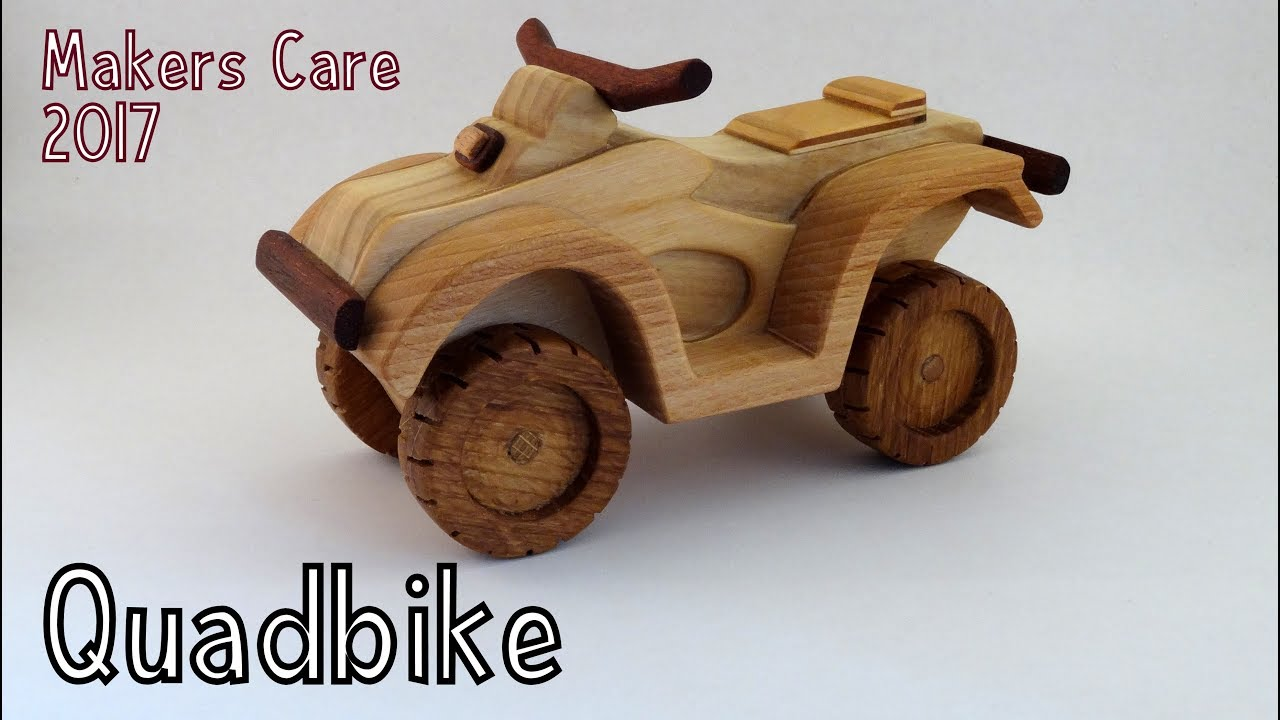 how to make a wooden toy quadbike atv for makers care 2017 | wooden  miniature - wooden creations