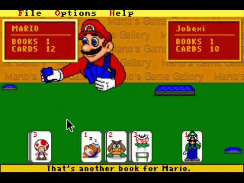 Mario 39 s game gallery 1995 go fish youtube for Mario go fish