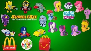 *NEW*Mcdonald's 2018  US Happy Meal Bumblebee and My Little Pony Display