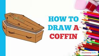How to Draw a Coffin in a Few Easy Steps: Drawing Tutorial for Kids and Beginners