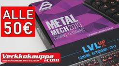 HALVAT Verkkokauppa.comin mekaaniset näppäimistöt (LVLUP & Blackstorm)