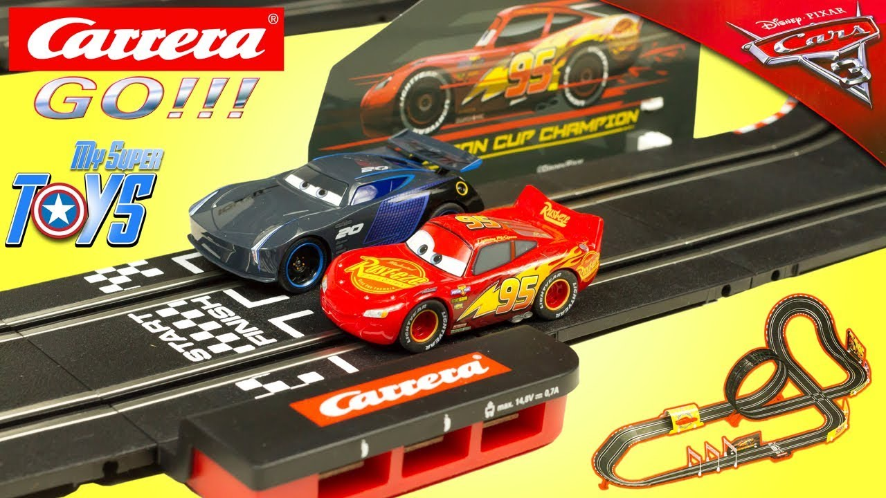 carrera go cars 3 slot racing system lightning mcqueen fast not last jackson storm toy review. Black Bedroom Furniture Sets. Home Design Ideas