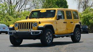 Hellayella Yellow! 2020 Jeep Wrangler Unlimited Sahara eTorque For Sale   29284T