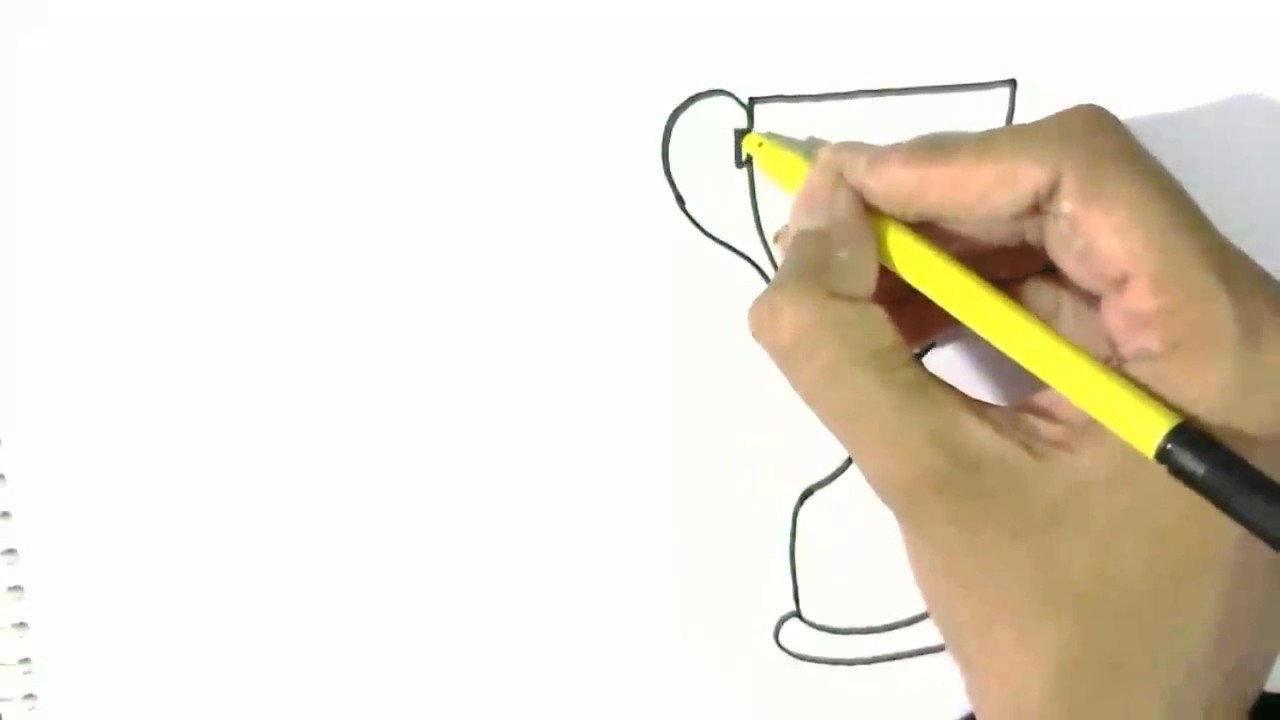 How To Draw World Cup In Easy Steps For Children Beginners Youtube
