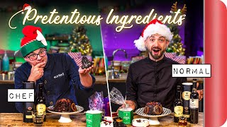 "Chefs Vs Normals Taste Testing Pretentious ""Christmas"" Ingredients Vol.2"