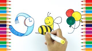 How to draw using Numbers | Draw using Number 9 | Learn Drawing For Kids | Kids Art TV