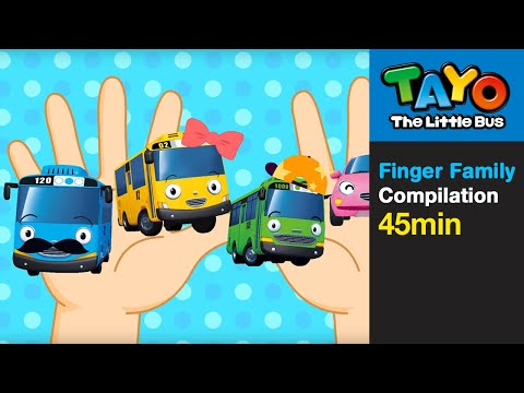 Finger Family and more (45 mins) l Nursery Rhymes l Tayo the Little Bus