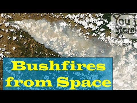 Australia Bushfires, 12 Feb 2017, report on the view from space