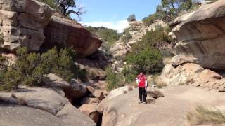 Slot canyon in Palo Duro Canyon 1