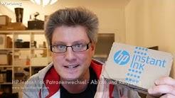 HP Instant Ink Patronenwechsel - Ablauf und Recycling