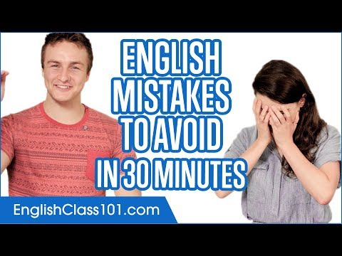 English Mistakes to Avoid in 30 minutes