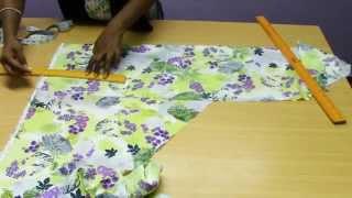Kids Umbrella Dress -  1  Marking & Cutting