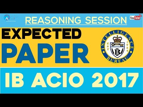 Expected Paper For IB ACIO 2017 By Radhey Sir   Reasoning   Online Coaching For IB ACIO