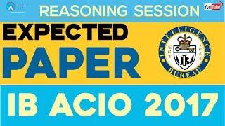 Expected paper for ib acio 2017 by radhey sir | reasoning | online coaching for ib acio