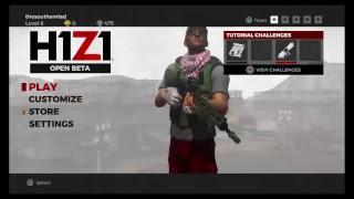 H1Z1  Solos PS4 Scavenger Hunt 6 wins Noob!!! GAME ON!