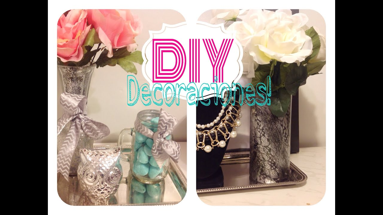 Diy 2 decoraciones s per f ciles para tu cuarto youtube for Decoraciones para mi habitacion