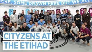 City Fans Play At The Etihad