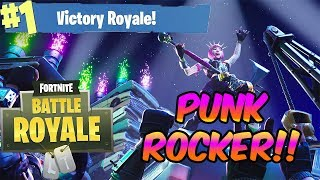 Fortnite Battle Royale - **NEW SKIN** POWER CHORD!! - PUNK ROCK CHICK!! - SOLO BEATDOWN!!